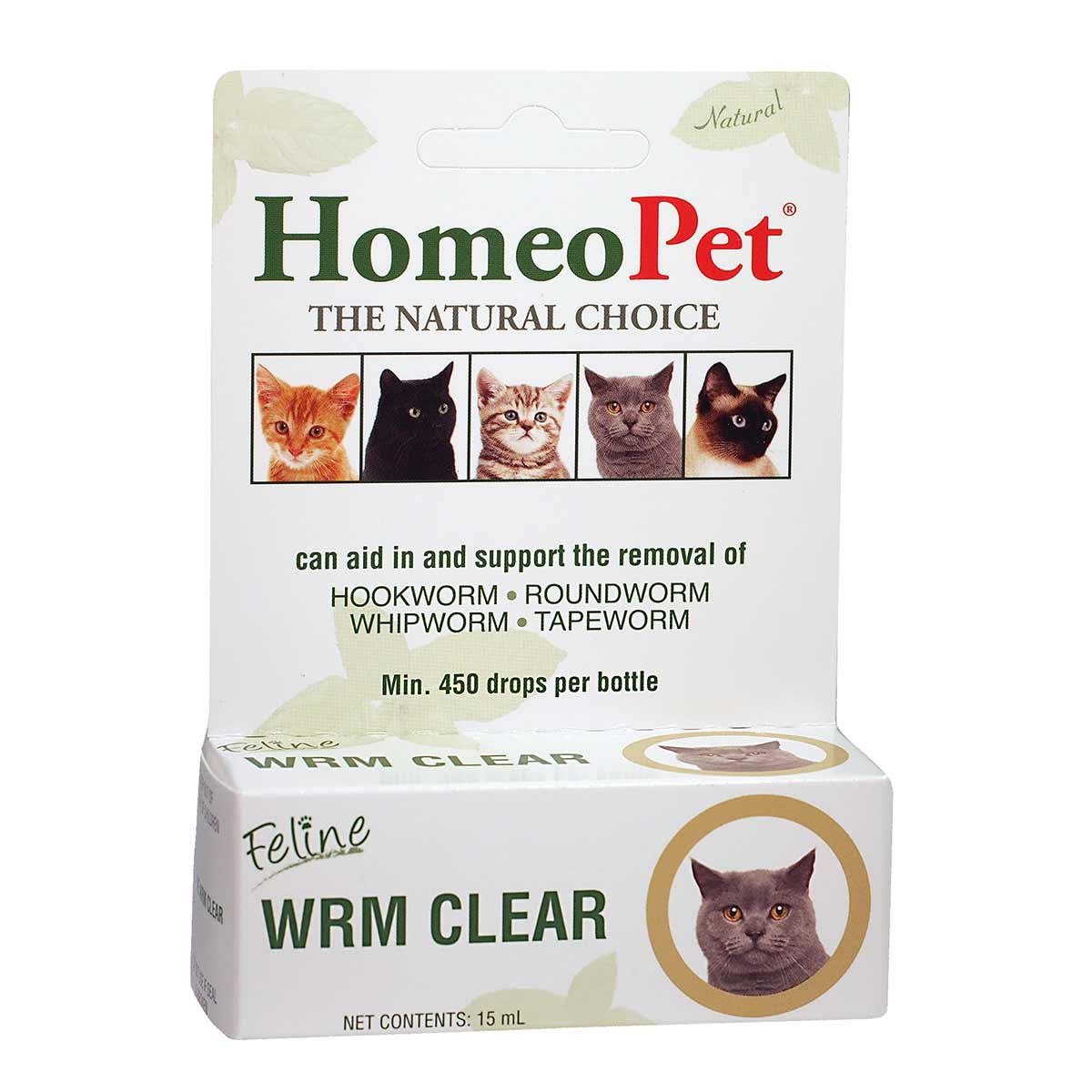 HomeoPet Feline WRM Clear Natural Dewormer for Cats available at Ryan's Pet Supplies