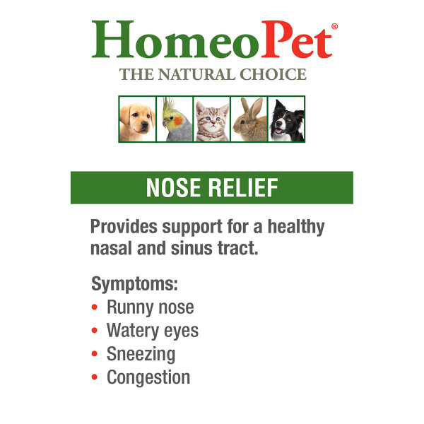 Benefits of Homeopet Nose Relief Pet supplement