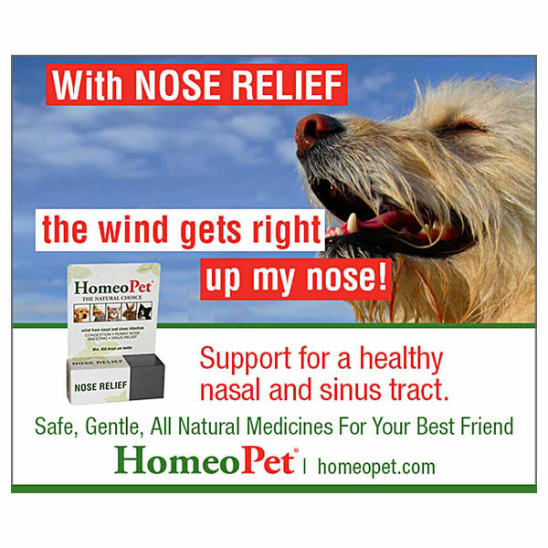 Ad for Homeopet Nose Relief