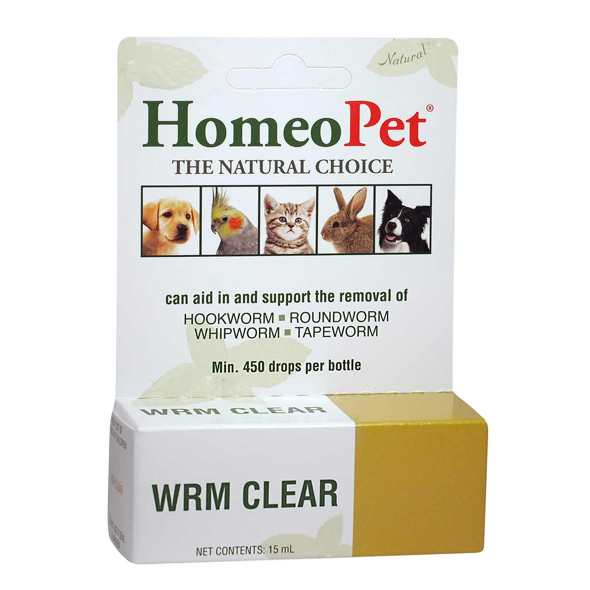 HomeoPet WRM Clear Natural Deworming for Dogs and Cats