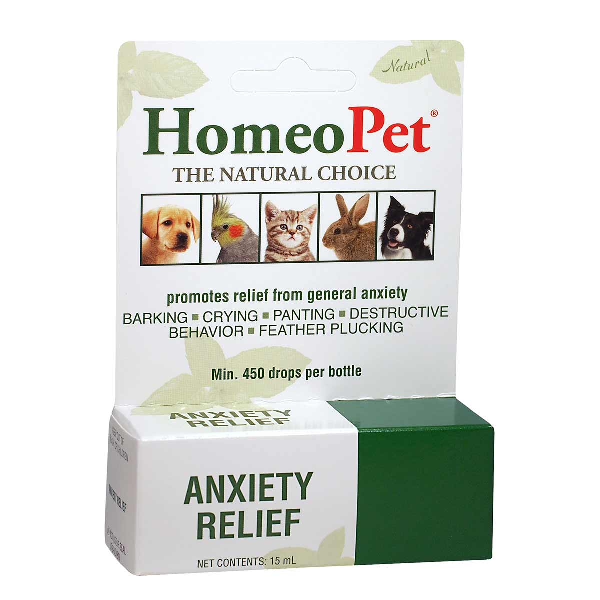 Natural HomeoPet Anxiety Relief for Dogs and Cats