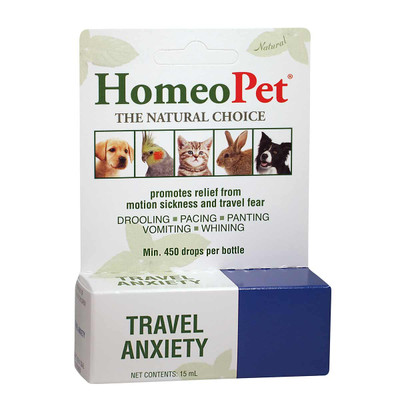 HomeoPet Travel Anxiety pet supplement