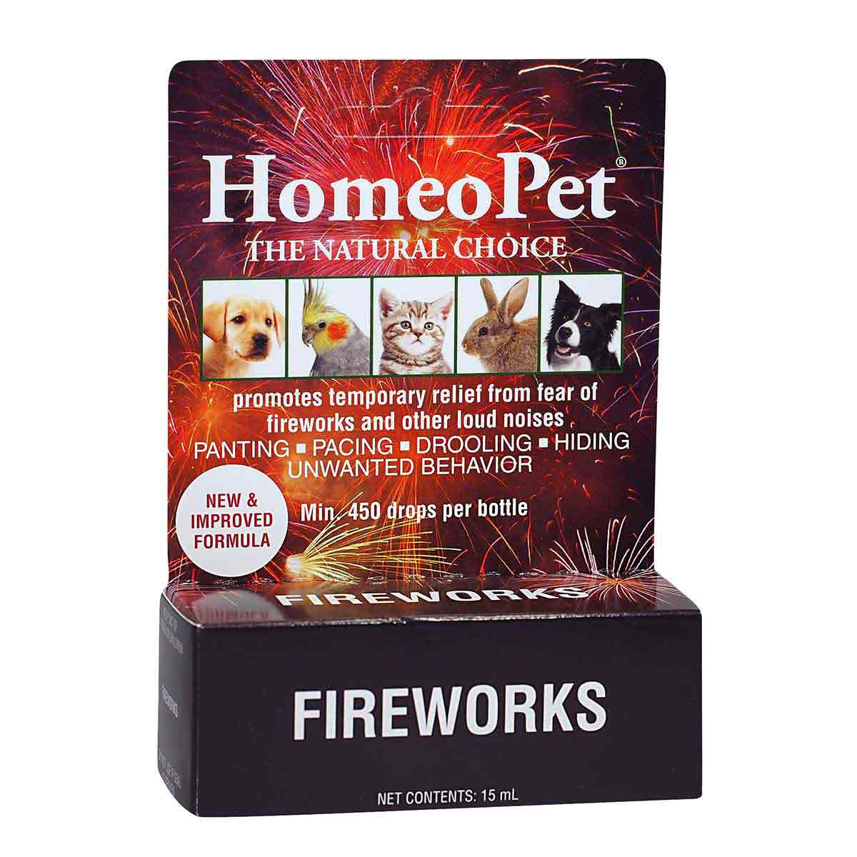 HomeoPet Fireworks Natural Calming Aid for Pets with Anxiety