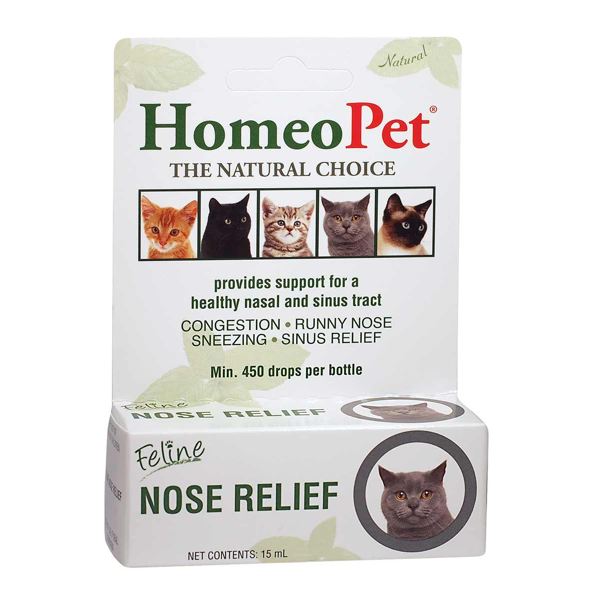 HomeoPet Feline Nose Relief Natural Treatment for Cats