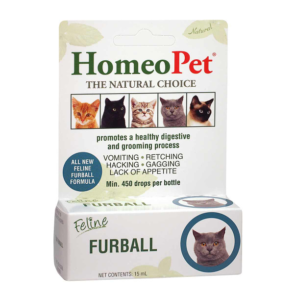 HomeoPet Feline Furball Natural Treatment for Cats