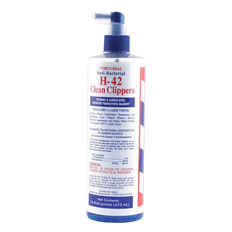 Virucidal Anti-Bacterial H-42 Clean Clippers - 16 oz Spray