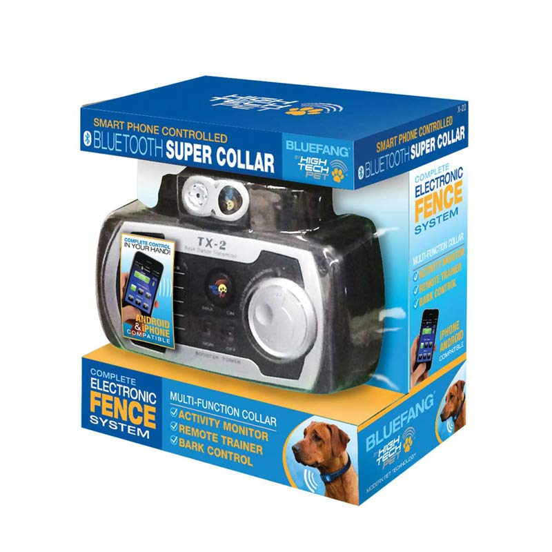 Blue Fang Electric Dog Fence Complete Kit - Android and iPhone Compatible