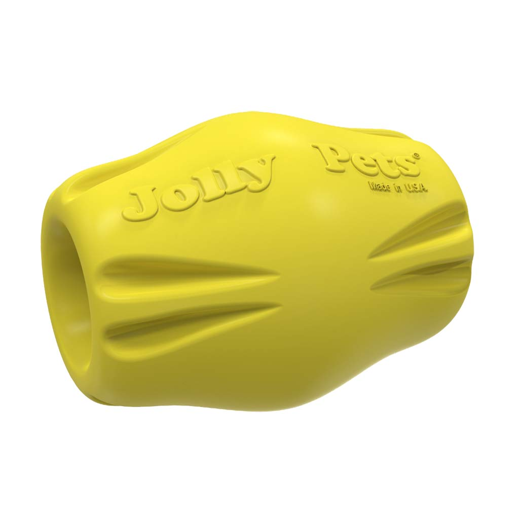 Jolly pets Flex-n-Chew Bobble Yellow 2 inch Durable Dog Chew Toy