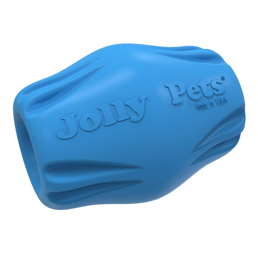 Durable Flex-n-Chew Bobble Blue 2.5 inch Dog Chew Toy from Jolly Pet