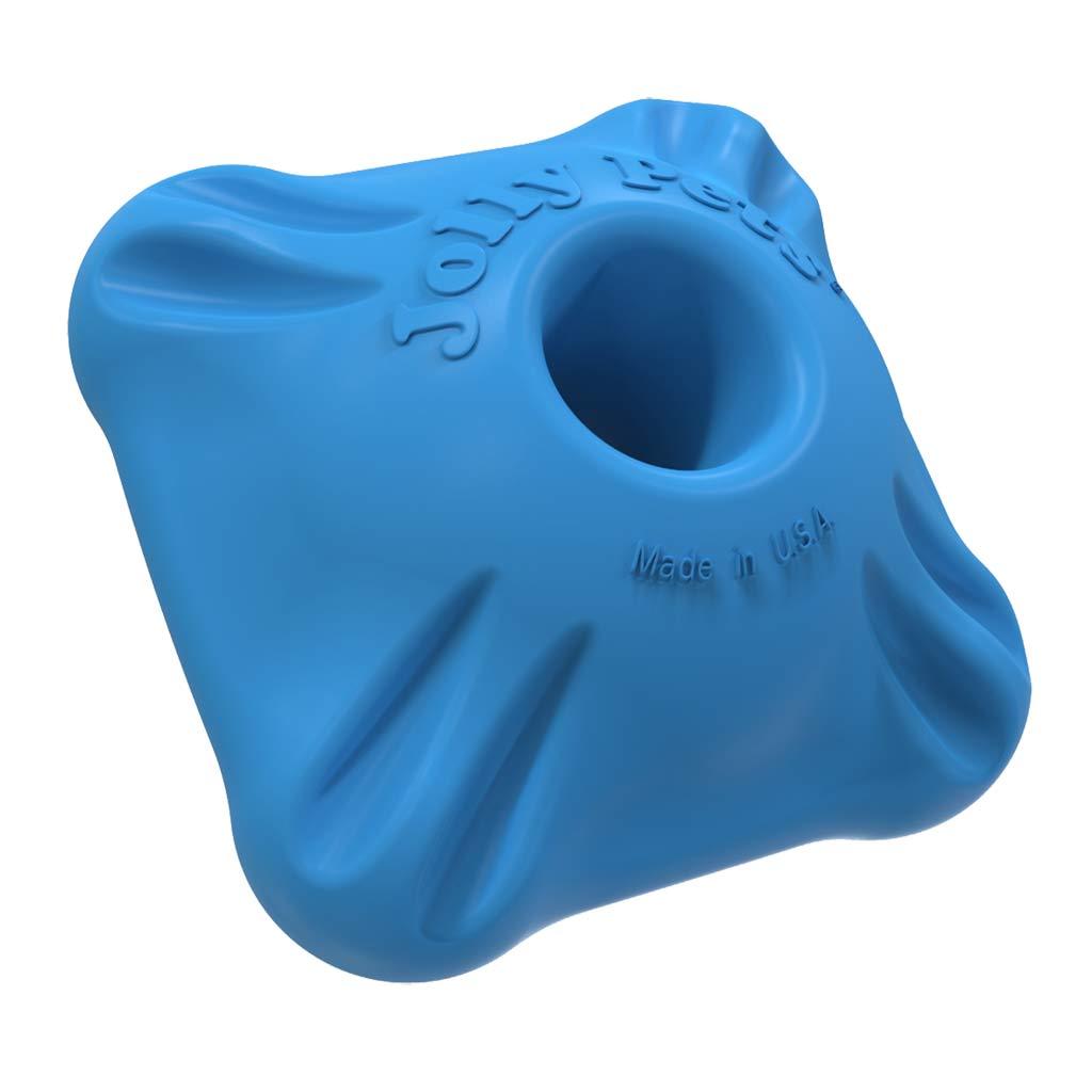 Durable Dog Chew by Jolly Pet Flex-n-Chew Squarble Blue 2.5 inch