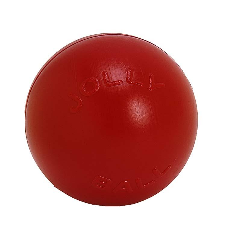 Medium Jolly Pet Push-n-Play Ball Red Dog Toy at Ryan's Pet Supplies