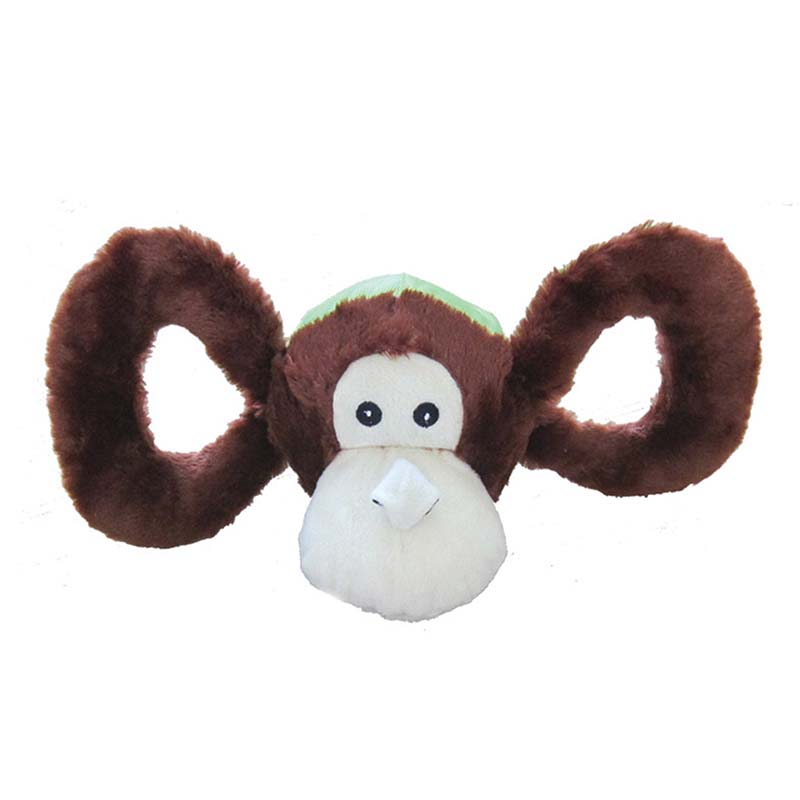 Medium Jolly Pet Tug-a-Mals Monkey Tug Toy at Ryan's Pet Supplies