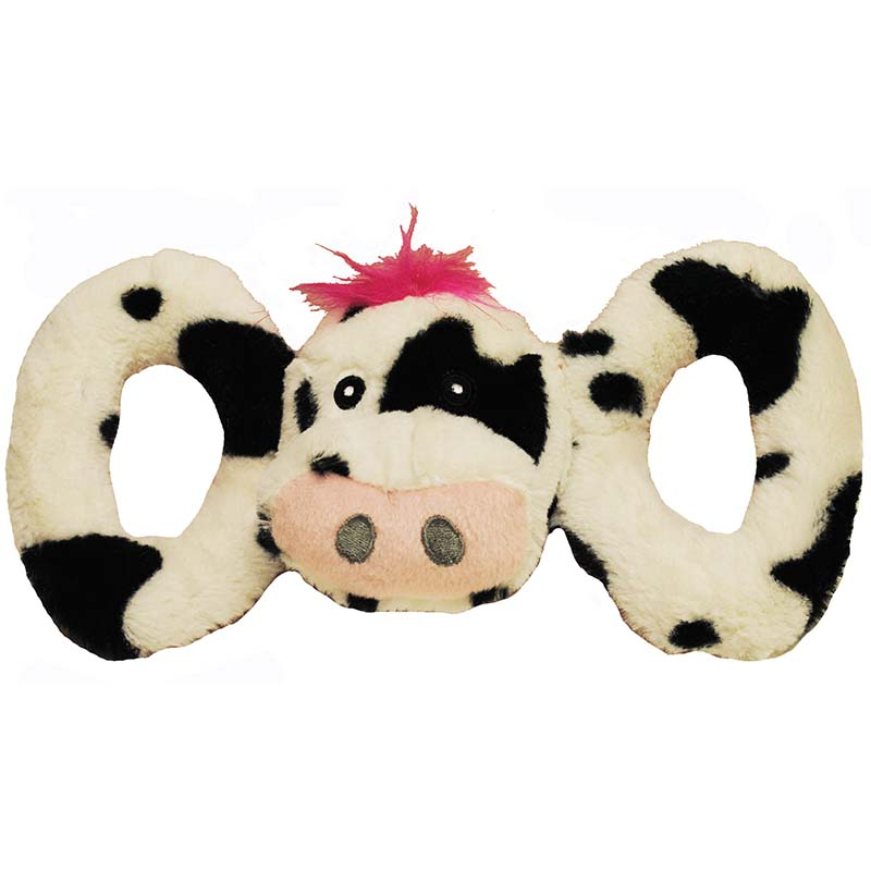 Small Jolly Pet Tug-a-Mals Cow Tug Toy at Ryan's Pet Supplies
