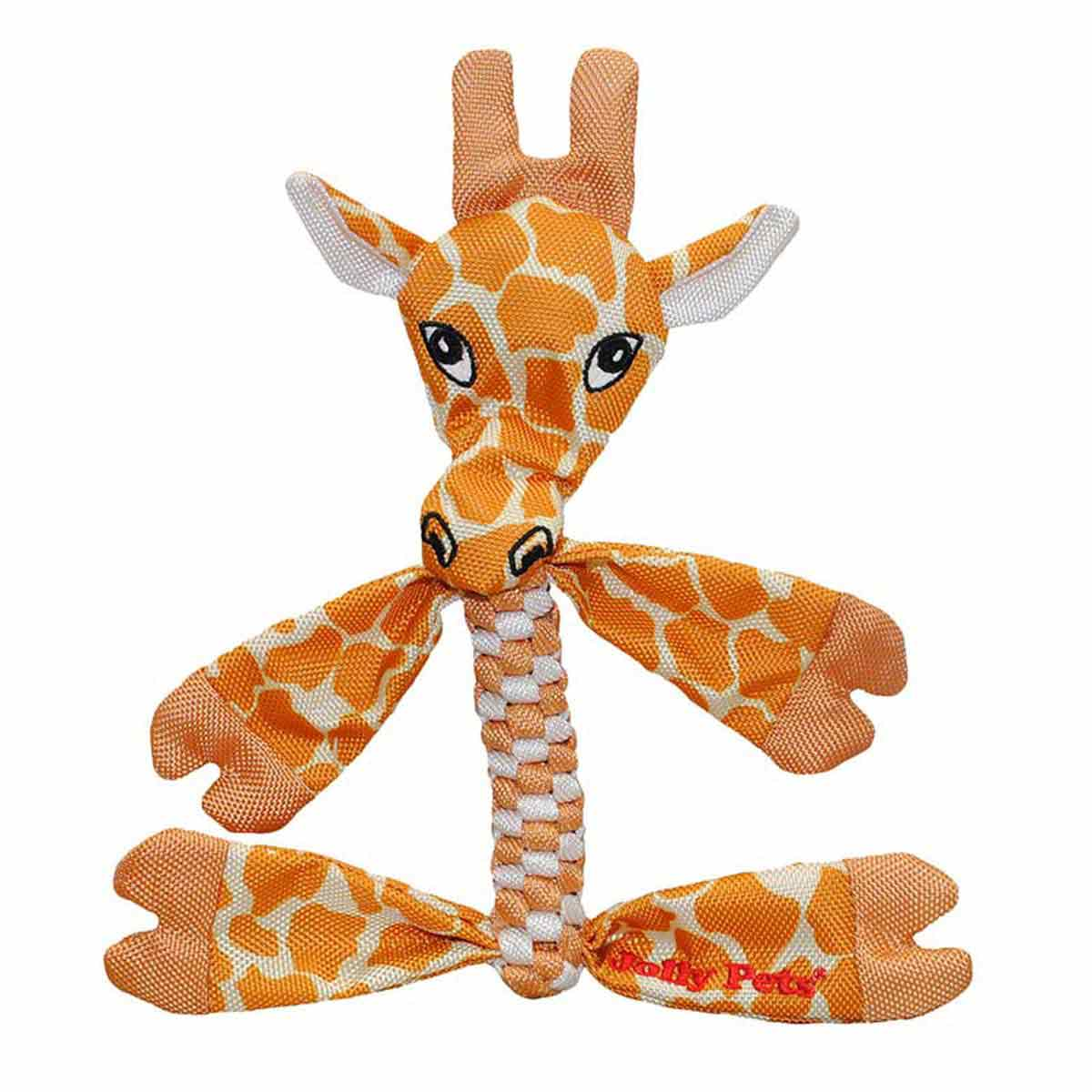 Small Giraffe Jolly Pet Animal Flathead Rope Dog Toy at Ryan's Pet Supplies