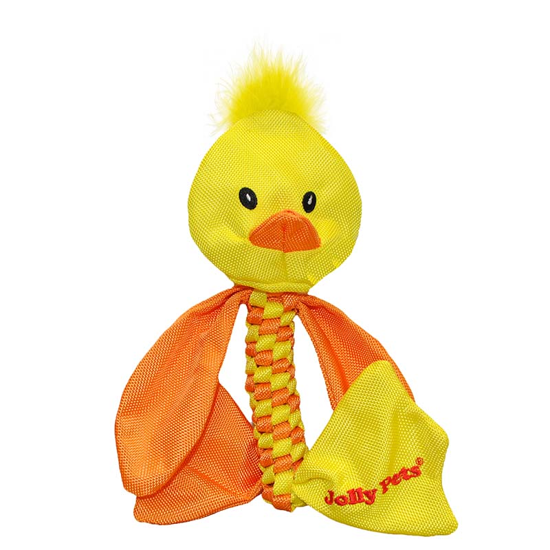 Jolly Pet Animal Flathead Duck Medium Dog Toy