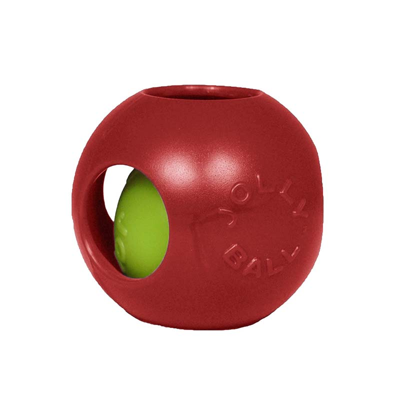 Medium Red Jolly Pet Teaser Ball Dog Toy