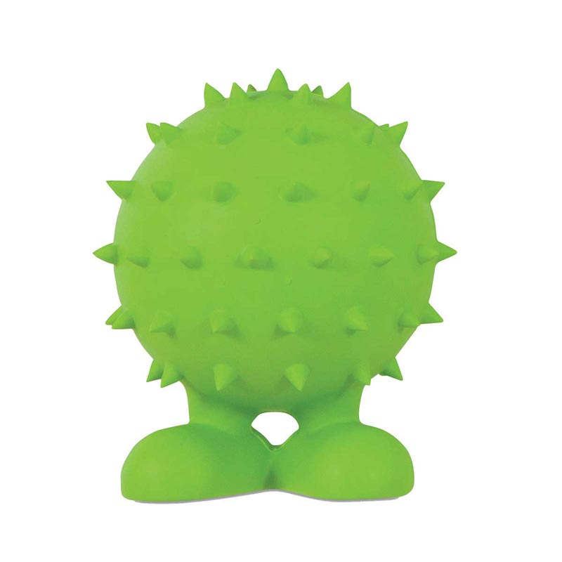 JW Spiky Cuz Medium 4 inch Rubber Bounce Toy for Dogs