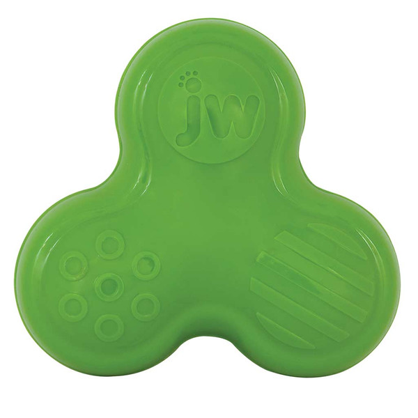 Green JW Symphony of Squeaks Rubber Dog Toy