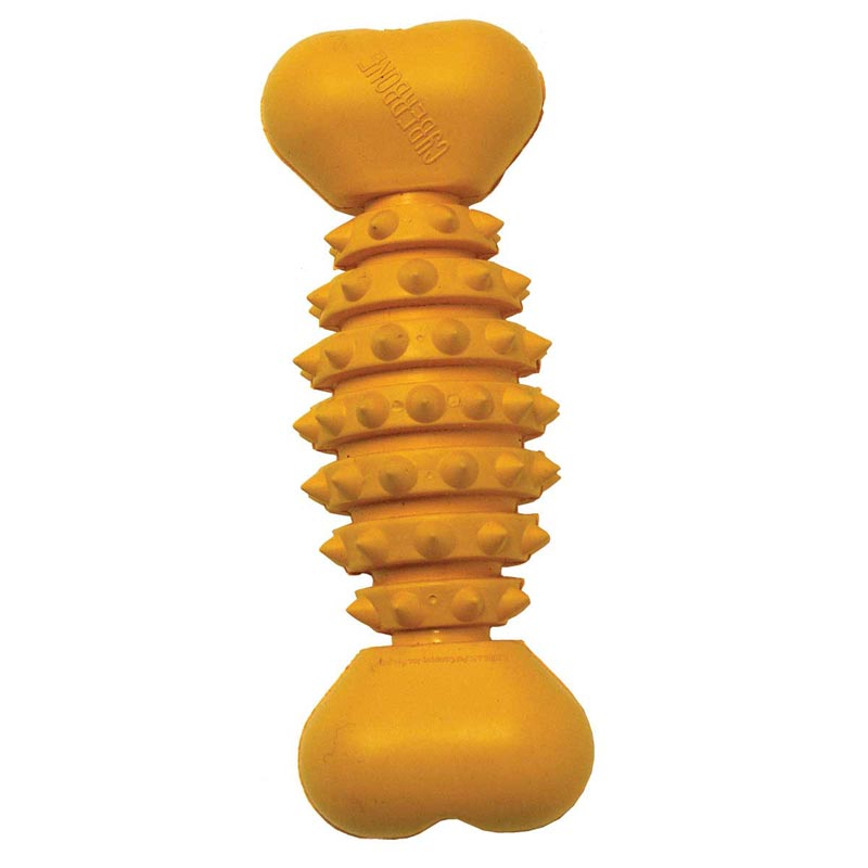 "Small 8"" JW Cyberbone Spiked Rubber Toy"