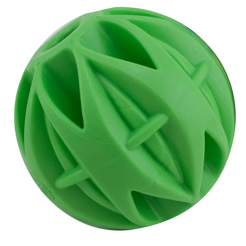 Small 2 inch JW Megalast Rubber Ball Toy