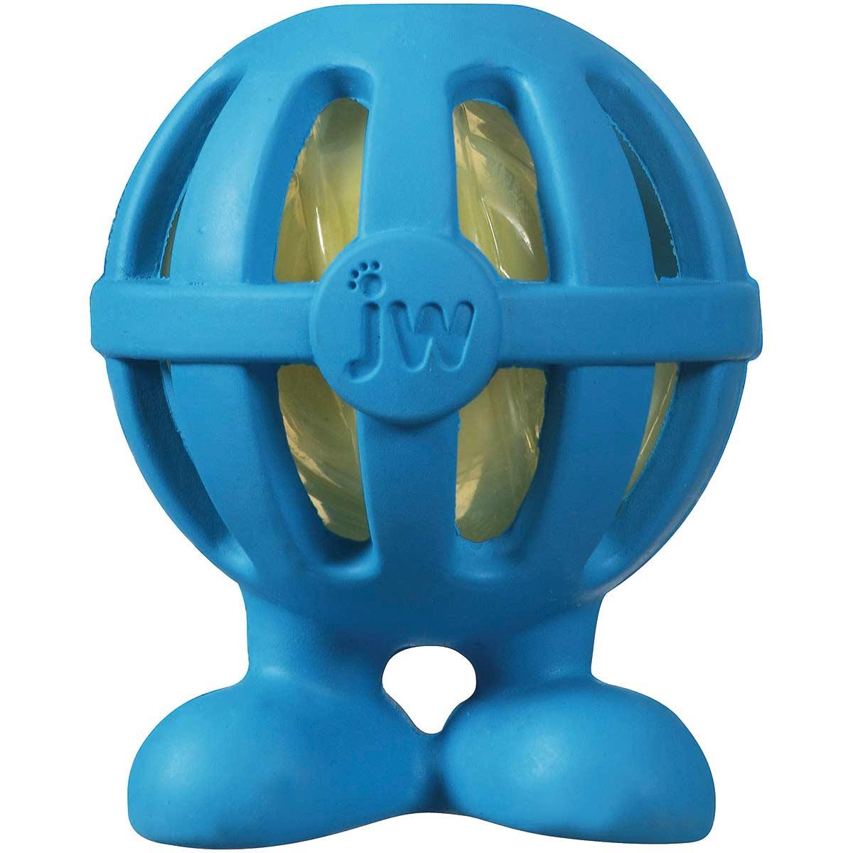 JW Crackle Head Cuz Small 2 inch Dog Toy