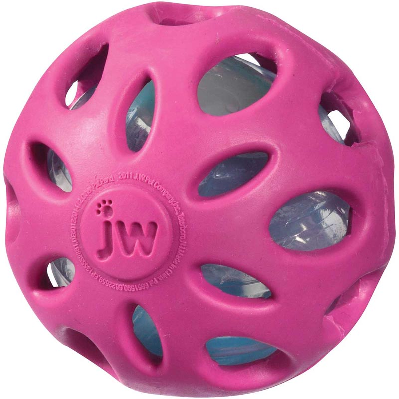 "Small 2"" JW Crackle Head Ball Toy"