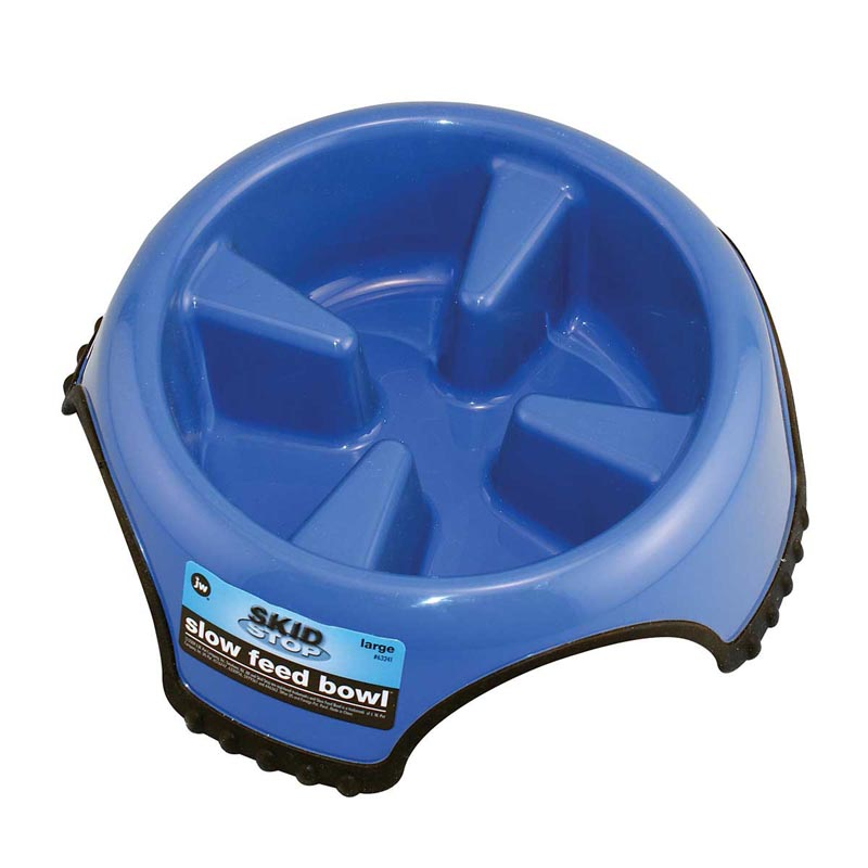 Skid Stop Slow Feed Bowl for Dogs - Jumbo Size