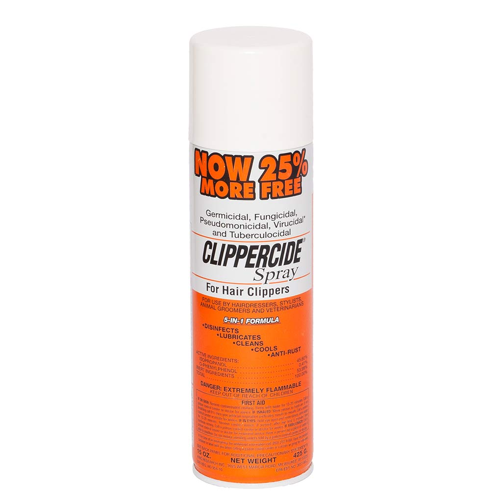 12 oz Clippercide 5-In-One Spray for Hair Clippers