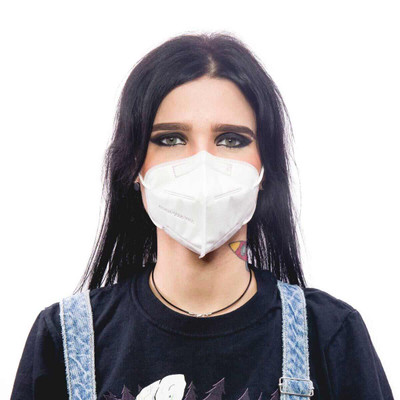Girl wearing KN95 Mask