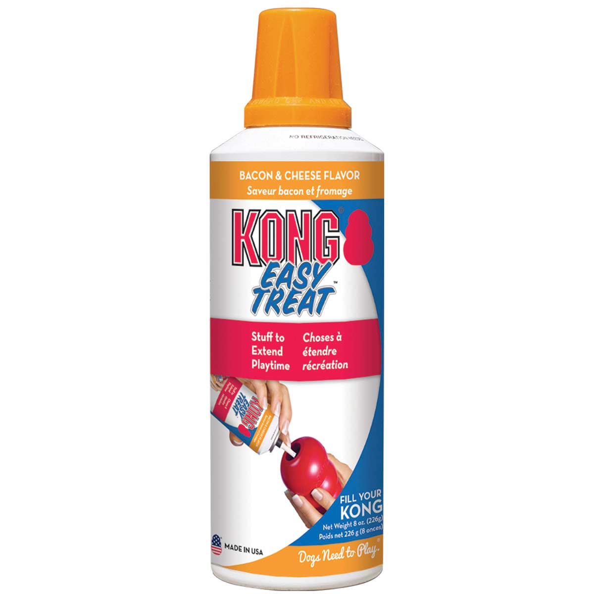 8 oz KONG Stuff'n Paste Easy Treat Bacon & Cheese for Dogs