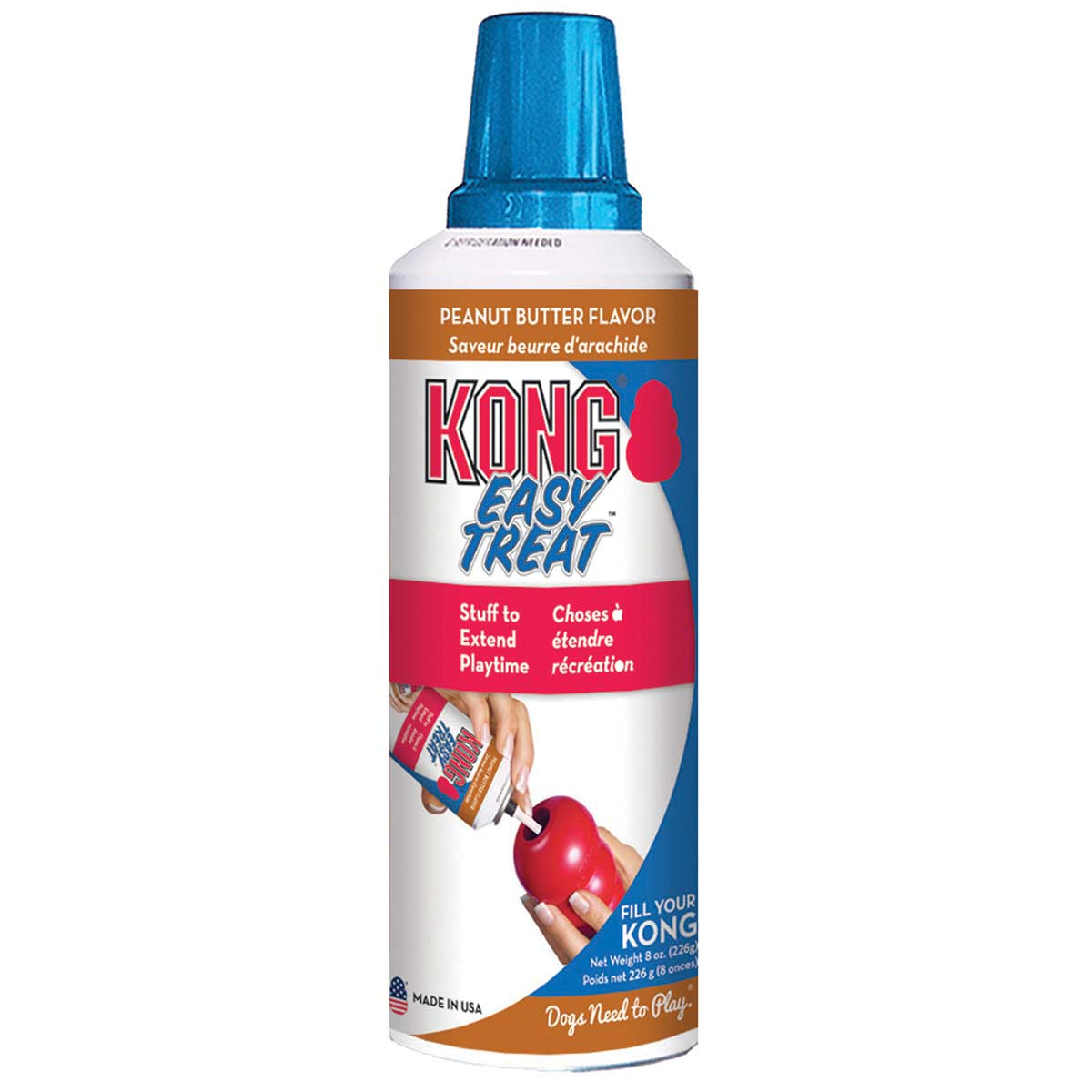 8 oz KONG Peanut Butter Flavor Easy Treat for Dogs