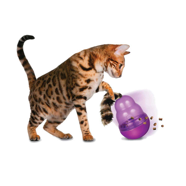 KONG Cat Wobbler Dispensing Treat Toy for Cats
