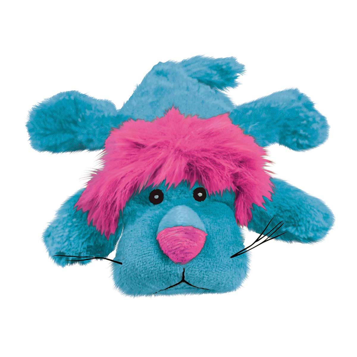 Pink and Blue KONG Cozie King Stuffed Dog Toy