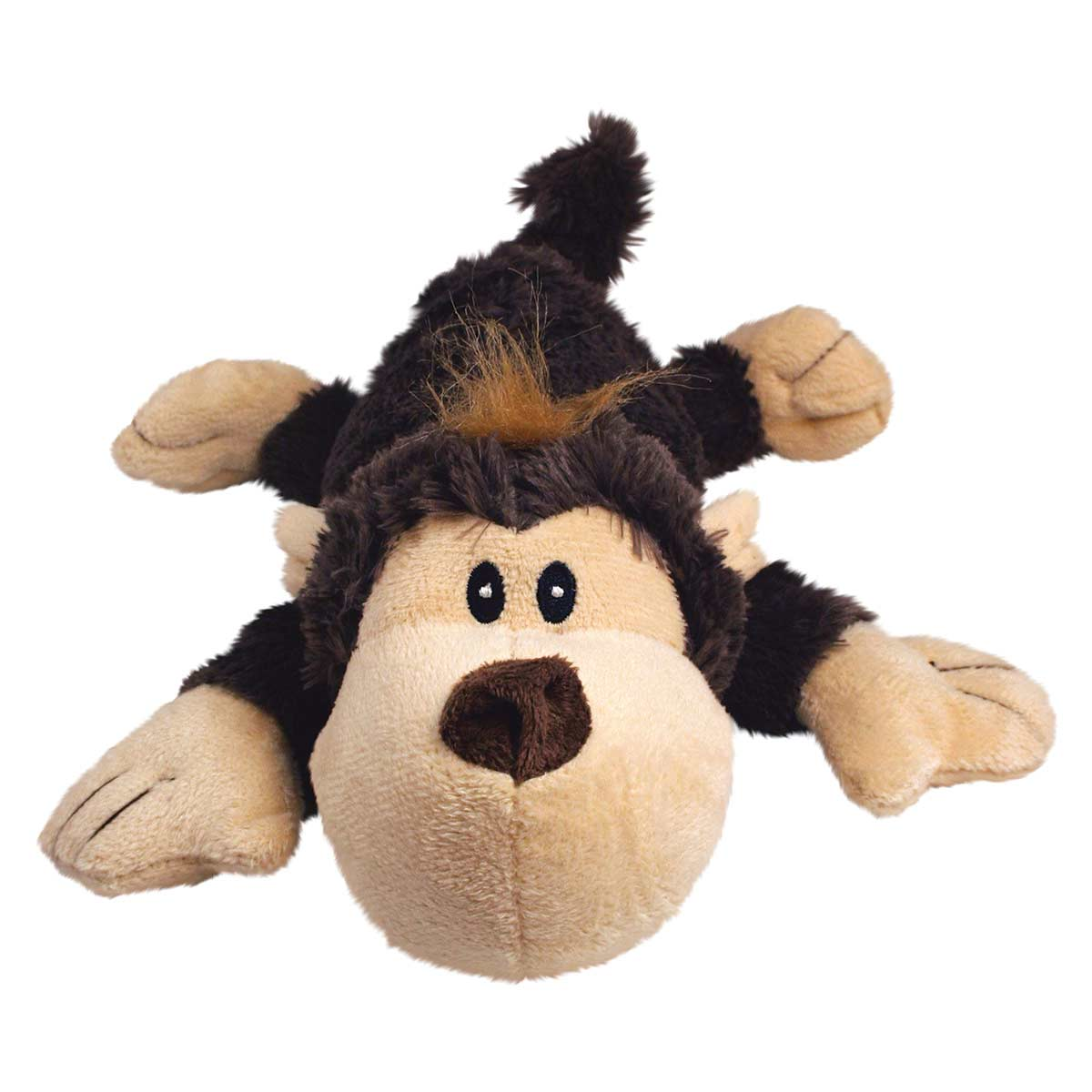 9 inch KONG Cozie Spunky Stuffed Monkey Dog Toy
