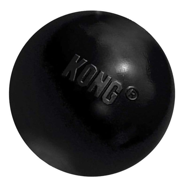 Black Medium/Large Extreme KONG Ball for Destructive Dogs
