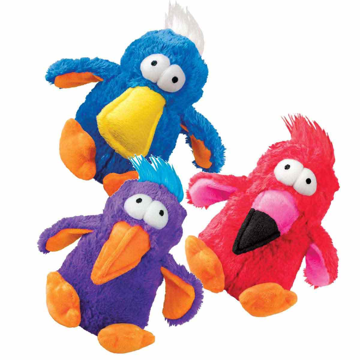 Medium Stuffed KONG Dodo Bird Dog Toy - Assorted Colors