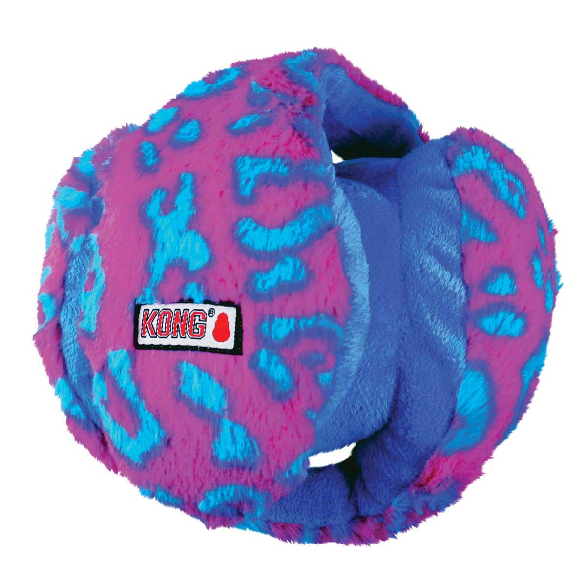 Medium KONG® Funzler Blue & Pink Stuffed Dog Toy