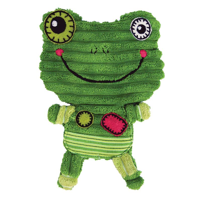 KONG Romperz Frog Toy for Dogs Large 11.75 inch