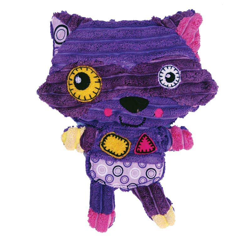 Purple Large KONG Romperz Raccoon - 11.75 inches