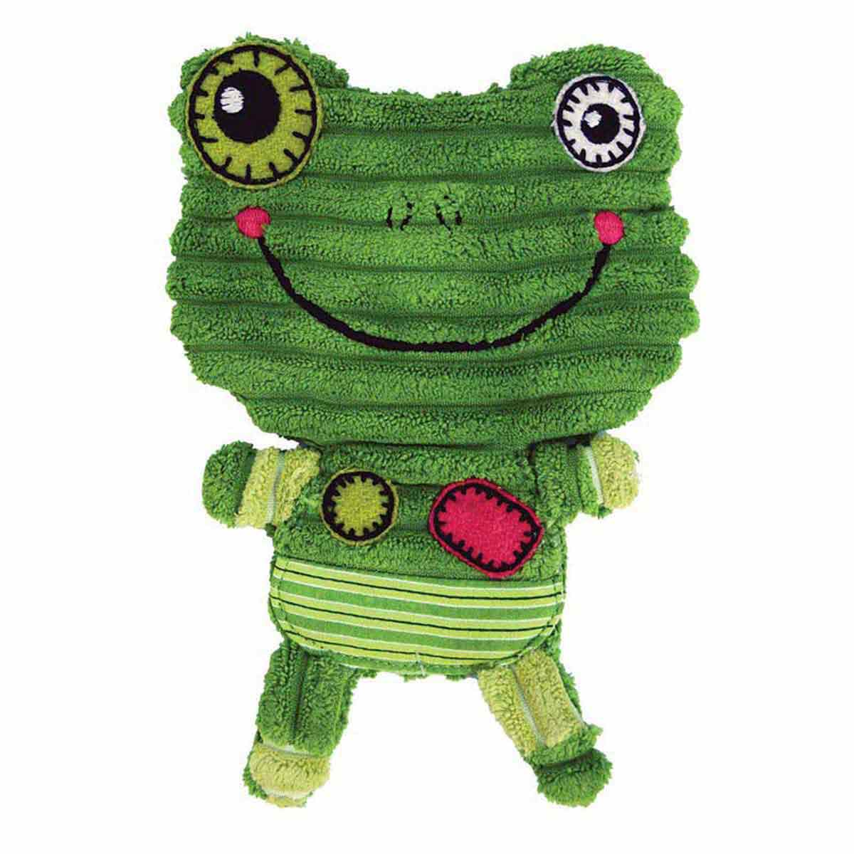 Medium KONG Romperz Frog for Dogs - 7.75 inches