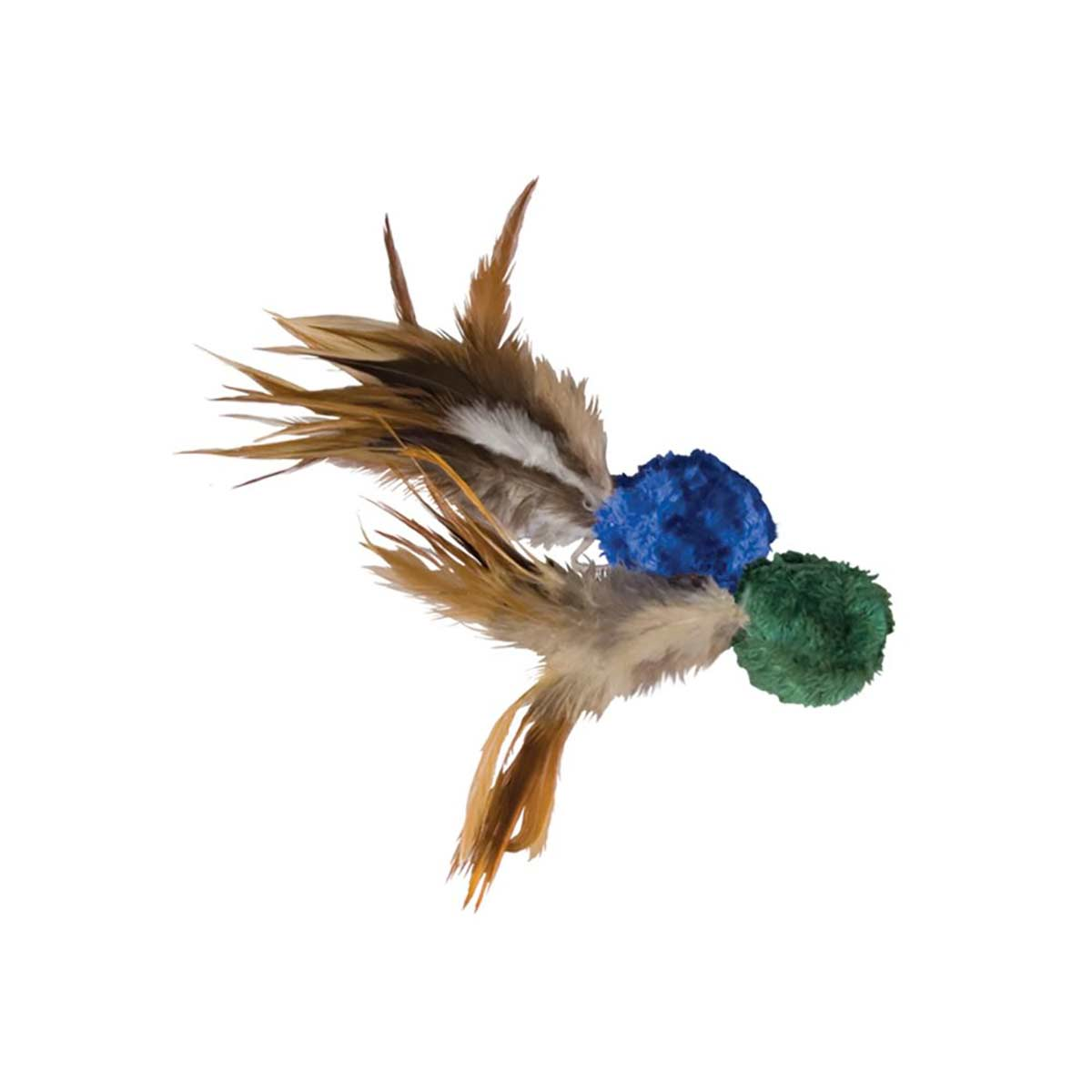 KONG Crinkle Ball With Feathers for Cats