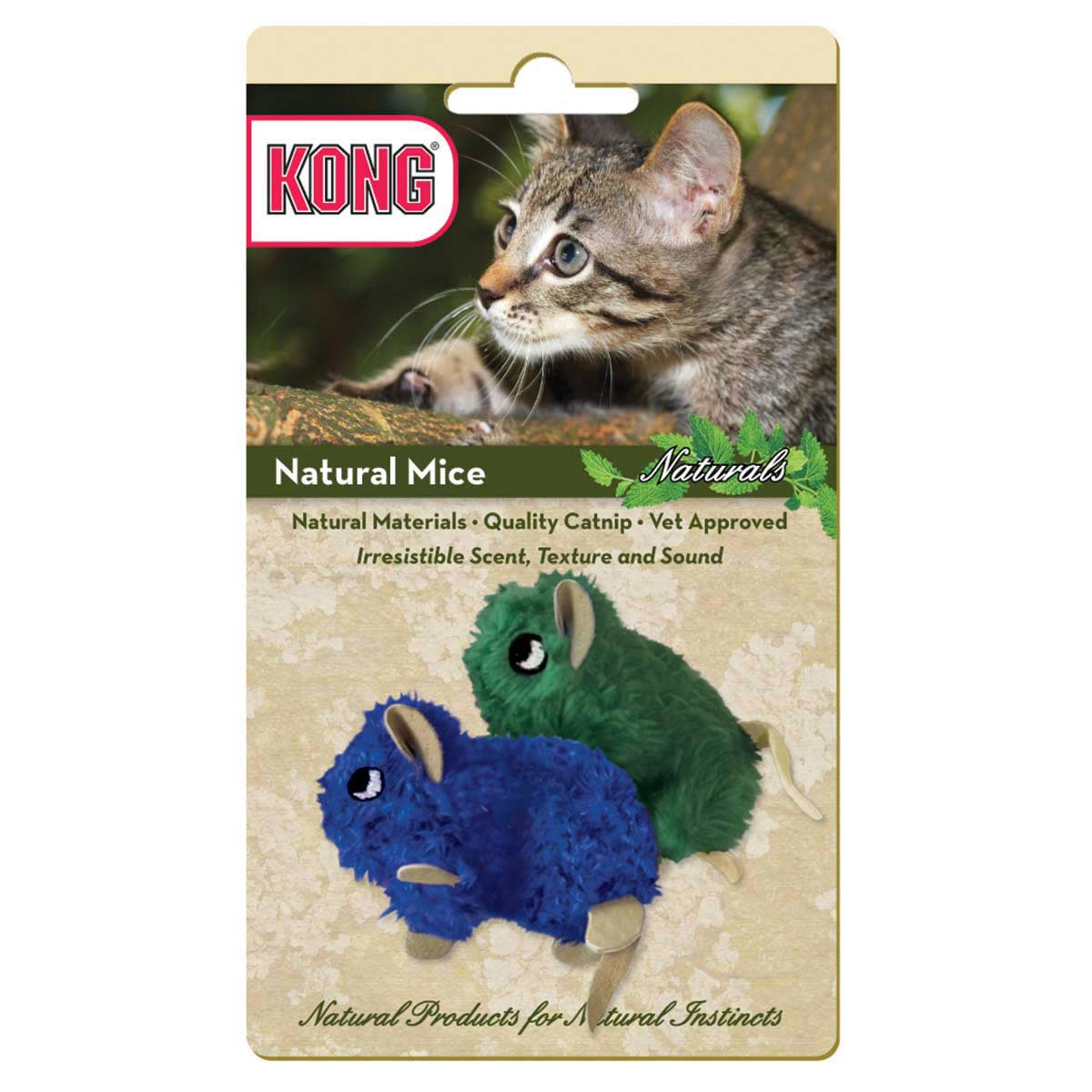 KONG Natural Mouse 2 Pack Cat Toys