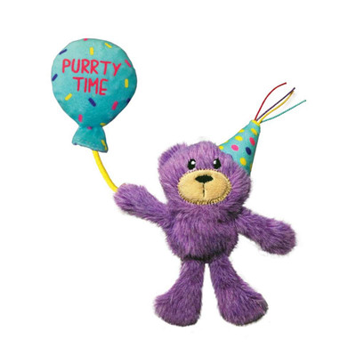 KONG Occasions Birthday Teddy Cat Toy