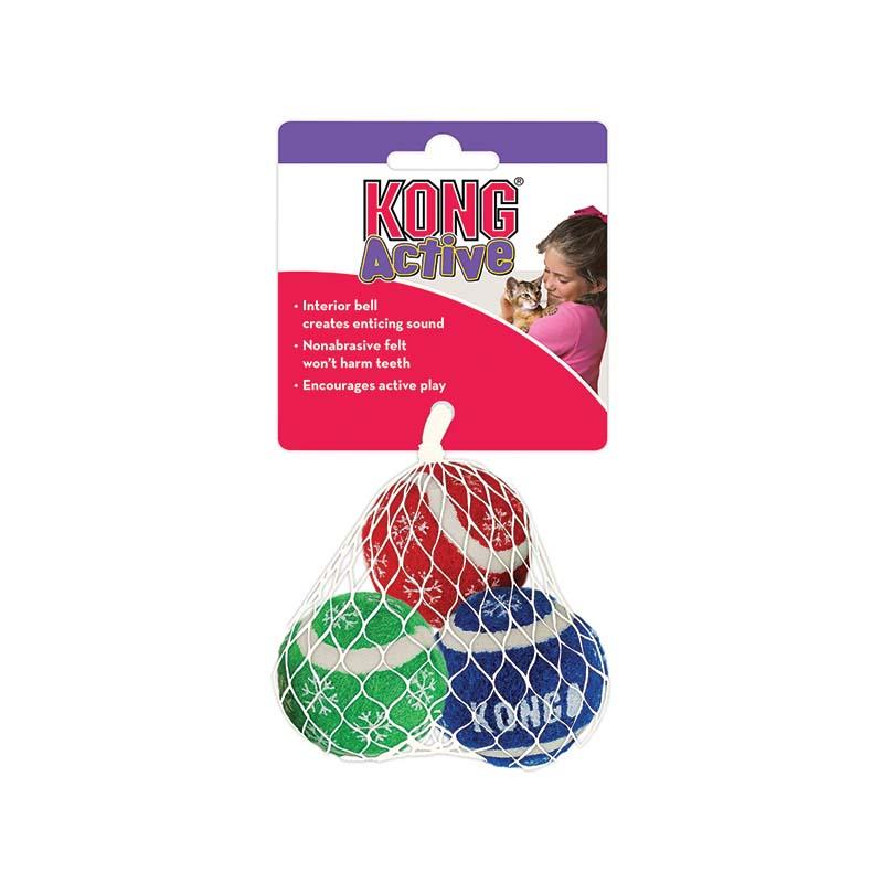 KONG Holiday SqueakAir Balls 3 Pack
