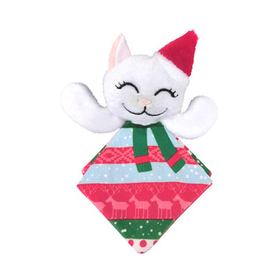 KONG Holiday Crackles Santa Kitty Cat Toy