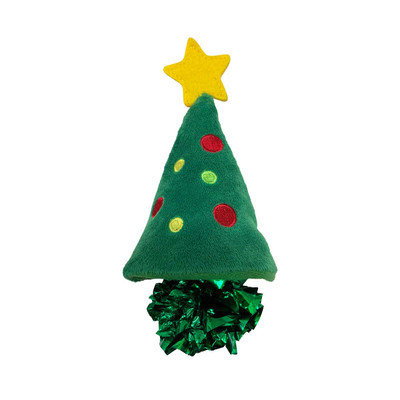 KONG Holiday Crackles Christmas Tree Cat Toy