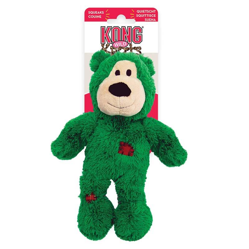 Green KONG Holiday Knots Wild Bear Medium/Large