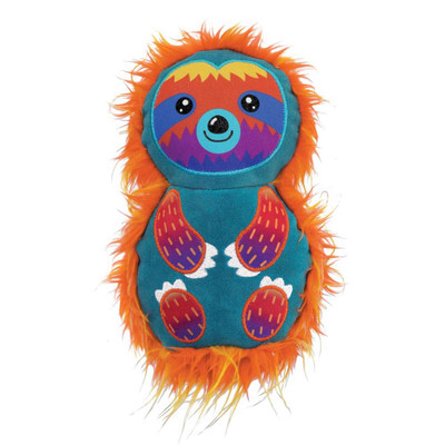 KONG Roughskinz Suedez Sloth Dog Toy