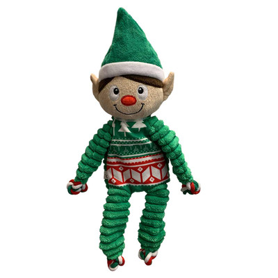 KONG Holiday Floopy Knots Elf Seasonal Dog Toy
