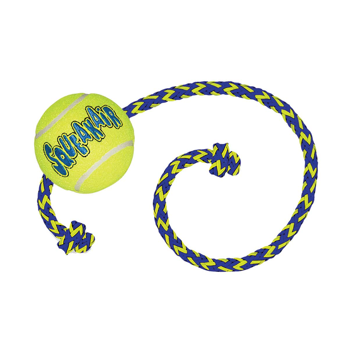 KONG Squeaker Ball with Rope Dog Toy - Medium